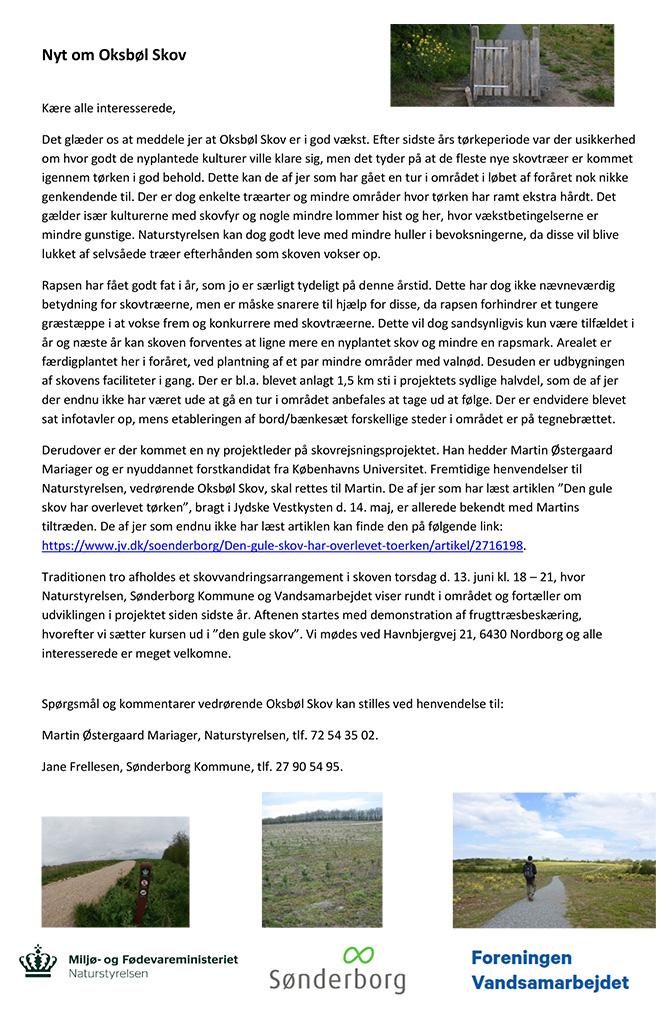 Oksbøl Skov nyhedsbrev 2019