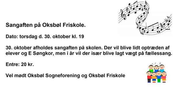 Sangaften på Oksbøl Friskole
