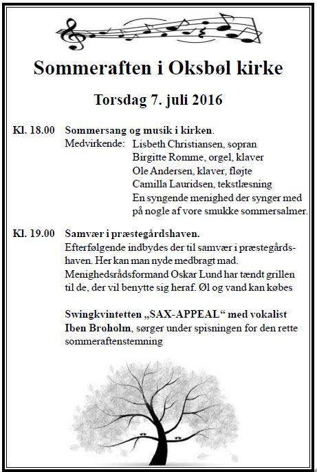 Sommeraften i Oksbøl kirke